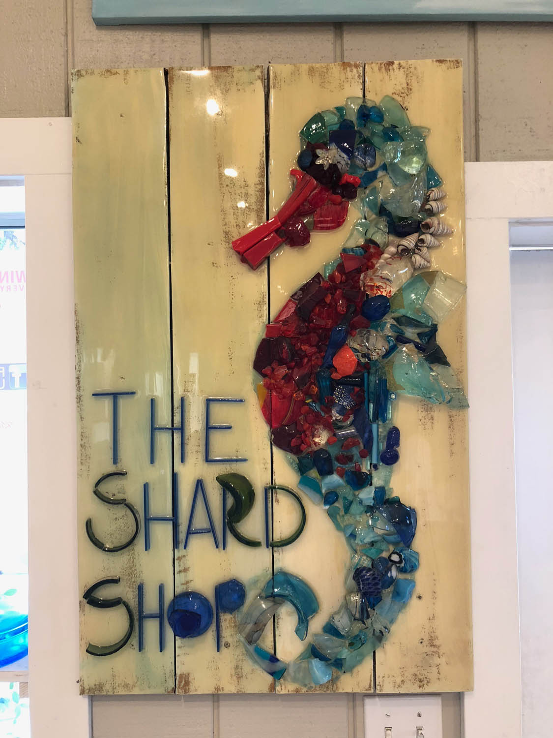 The Shard Shop sign for classes