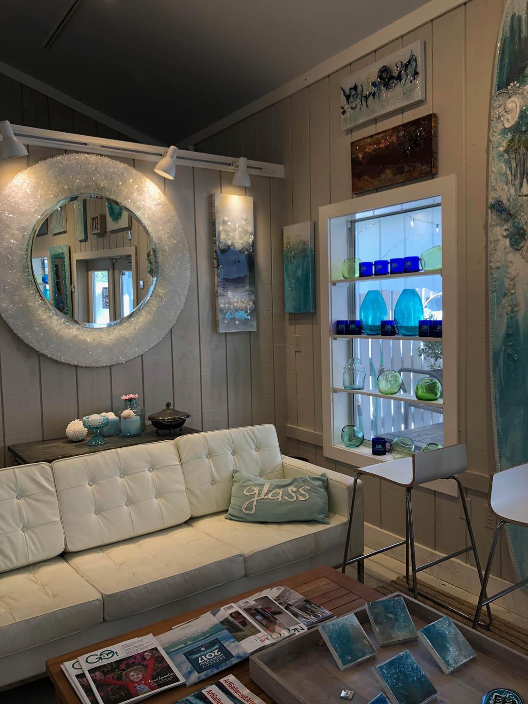 Interior of Mary Hong's studio in Grayton Beach, Florida
