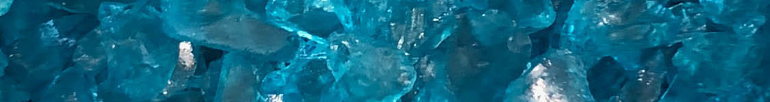 Blue glass shards