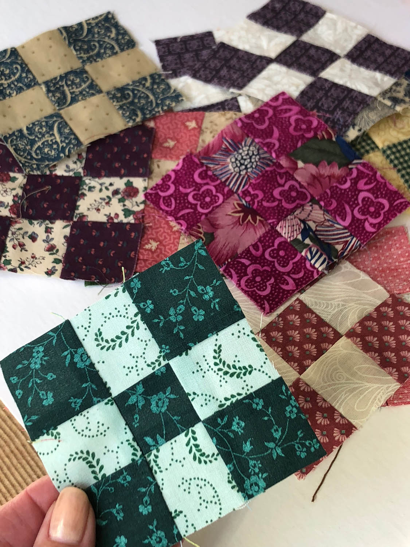 left over nine-patch quilt blocks