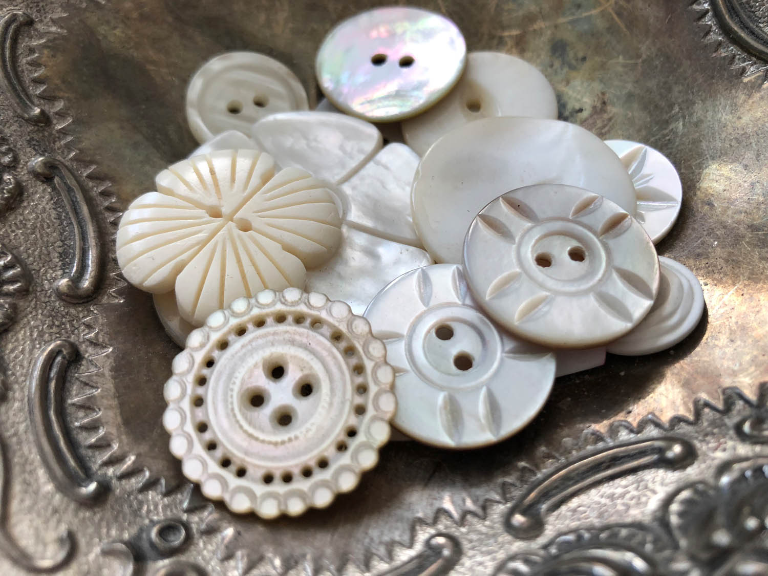 antique and vintage button collection