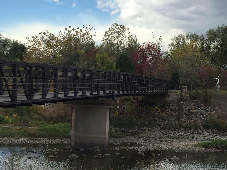 Bridge over Platte River Trail in Littleton, Co