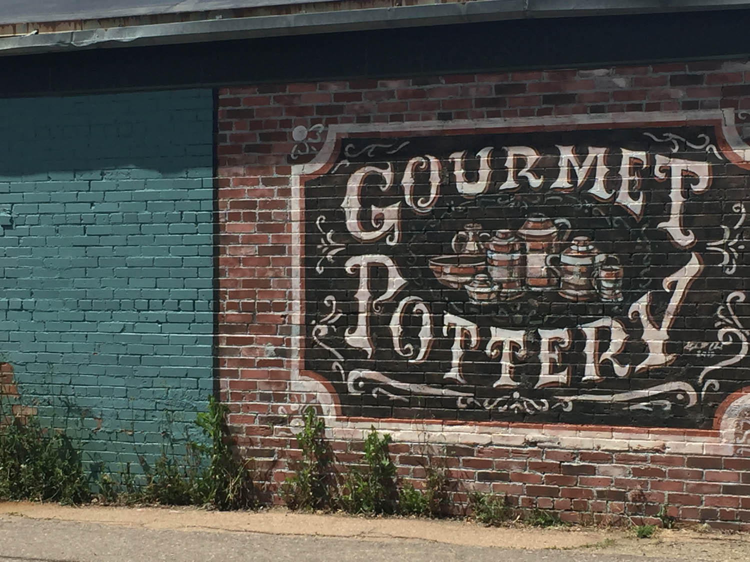 Pottery shop building in historic old downtown Littleton, CO