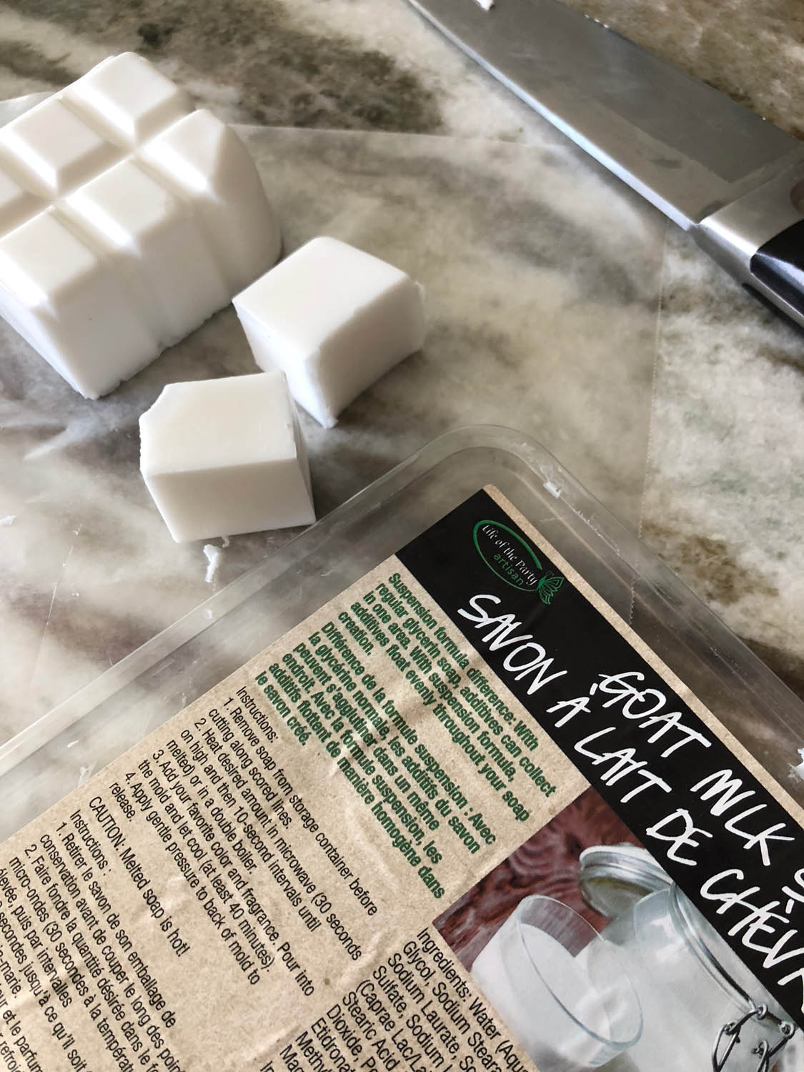 goat milk soap from life of the party