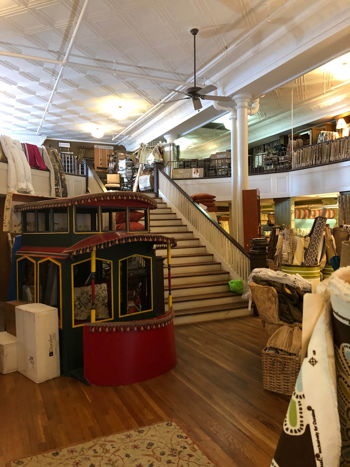 the small trolly at Trolly's Designer Fabrics