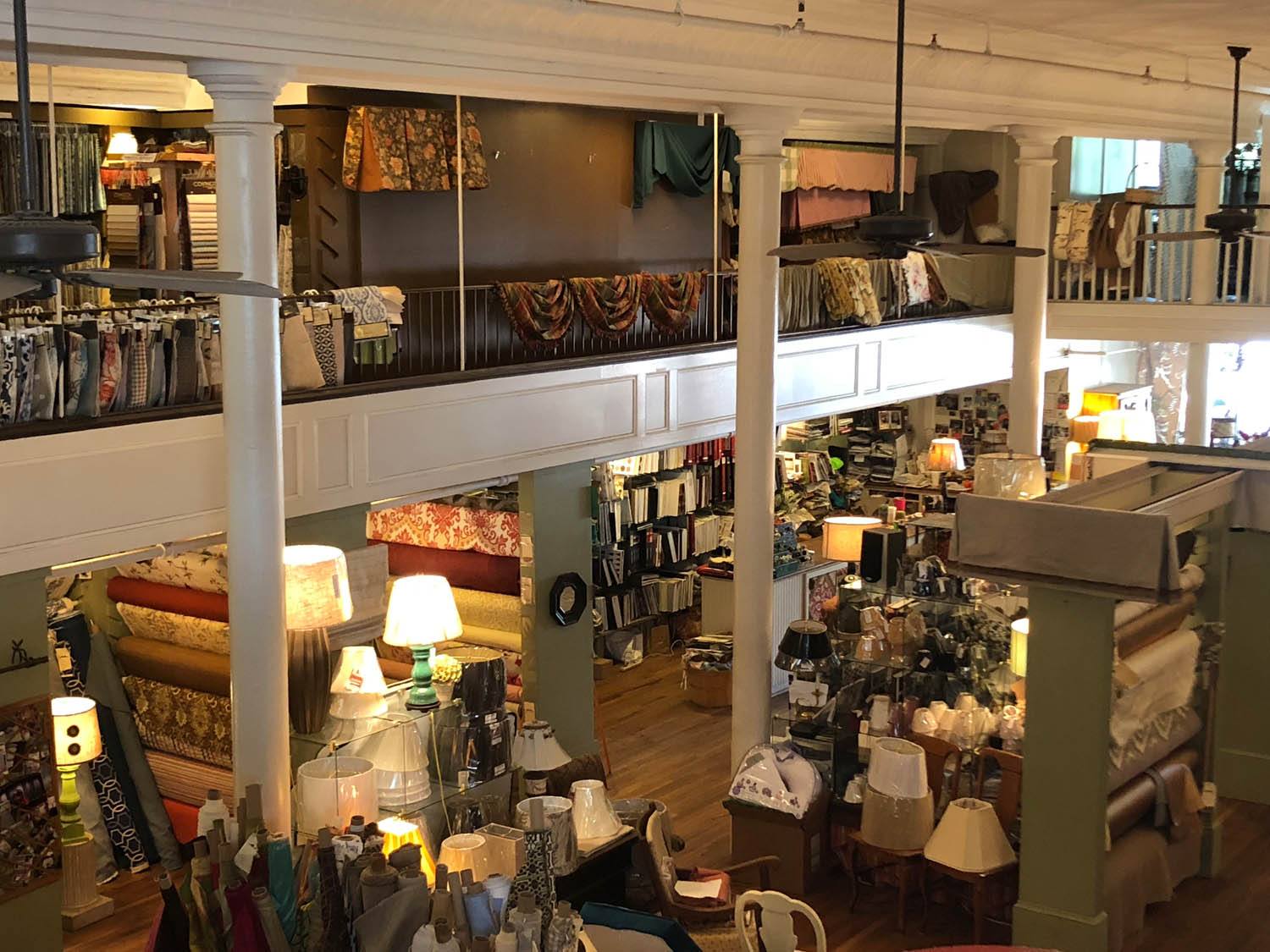 Interior of Trolly's Designer Fabrics LLC