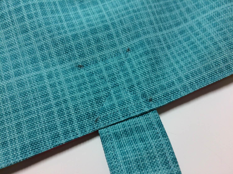 machine stitched strap reinforcement lines