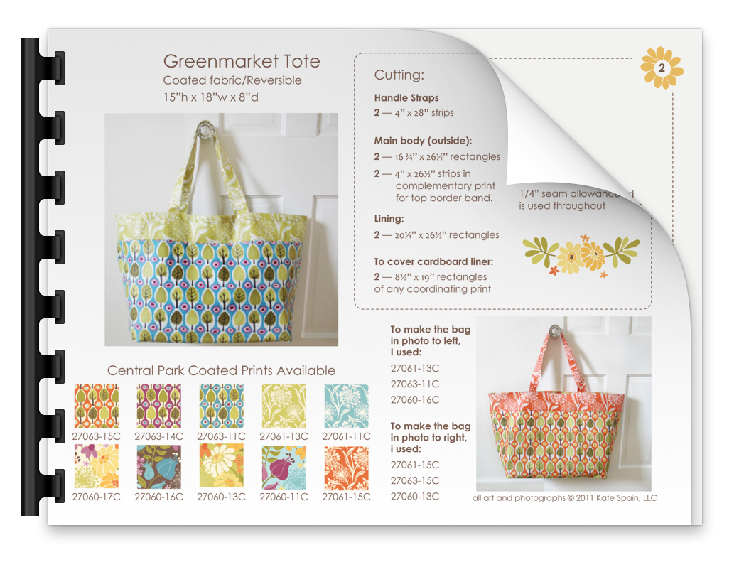 Free Green Market Tote pattern download by KD Spain