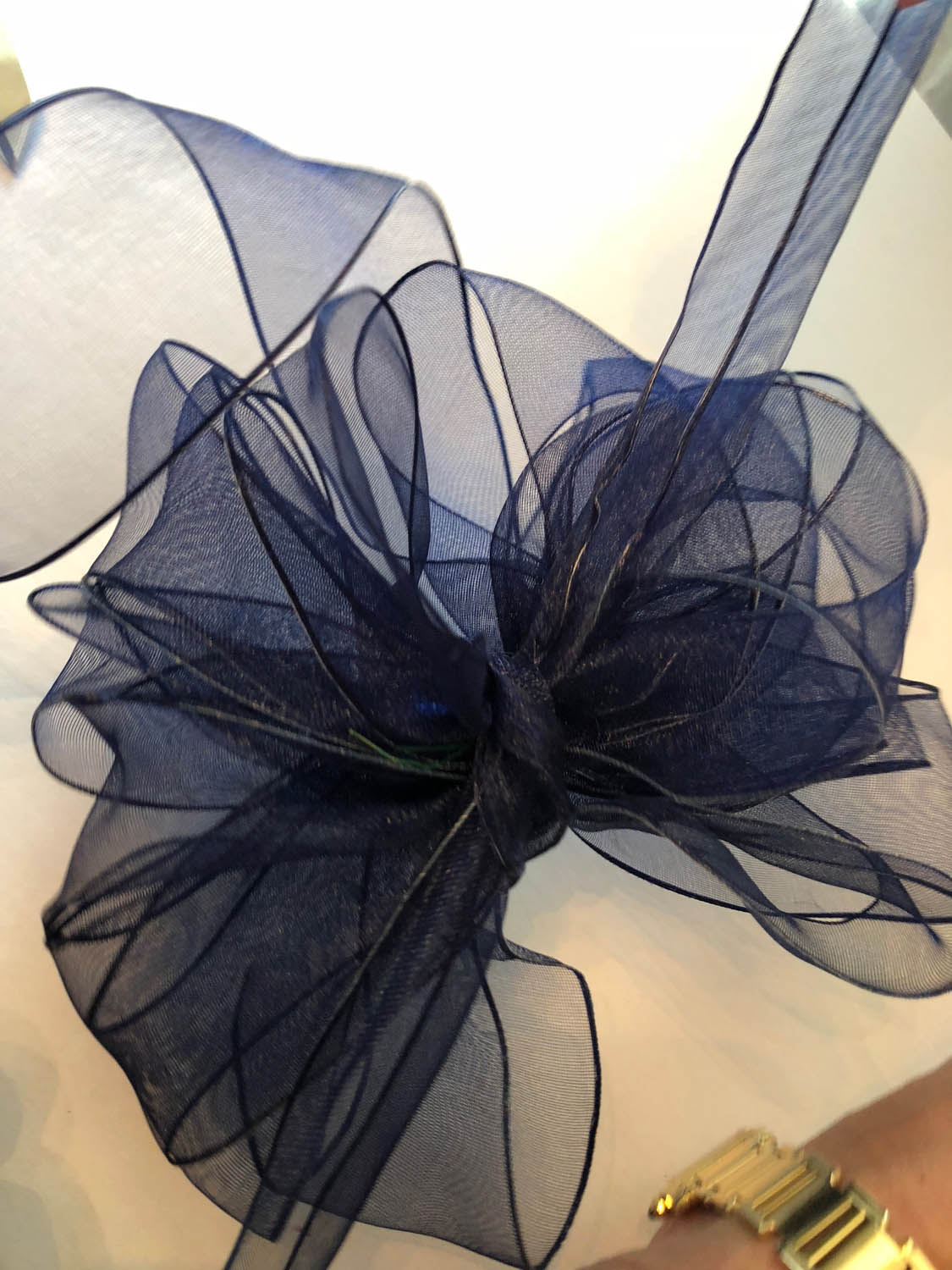 fluff out the ribbon in your wire edged ribbon bow