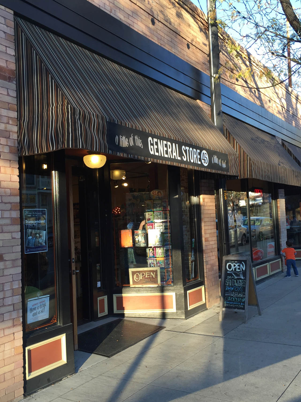General store on main street in downtown Littleton, CO