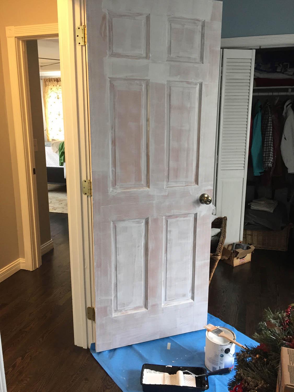 priming interior wood door for white trim paint