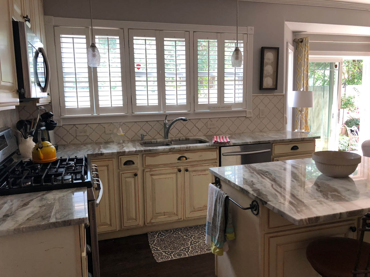 Remodeled kitchen at Curtice Cottage—side view.