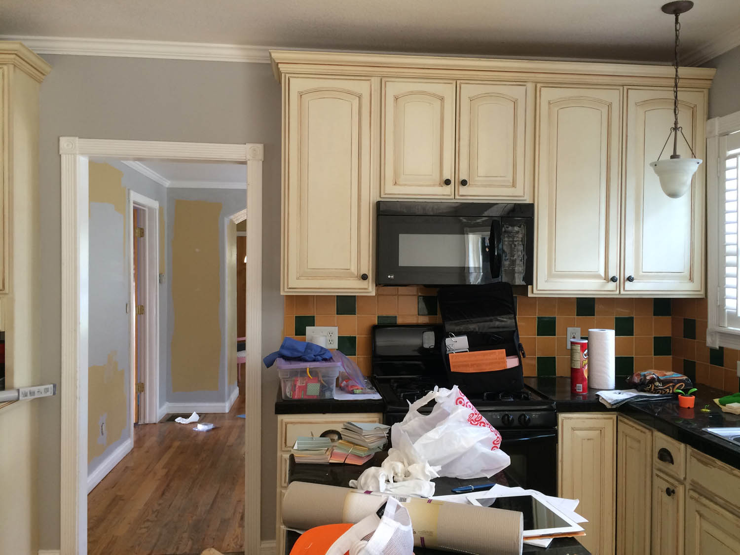 Remodeled kitchen at Curtice Cottage—before renovation.