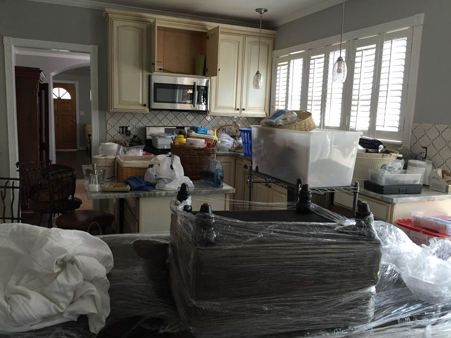 More things being delivered after Curtice Cottage kitchen was finished.