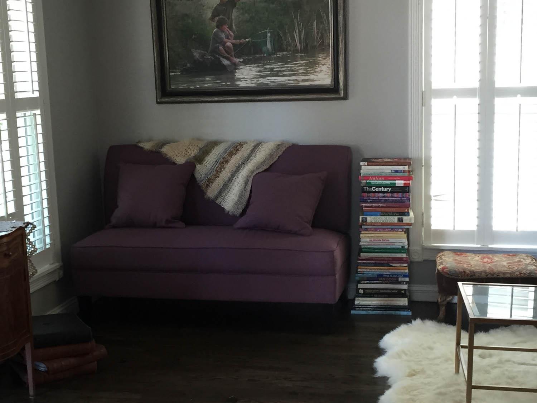 Reading nook after remodel