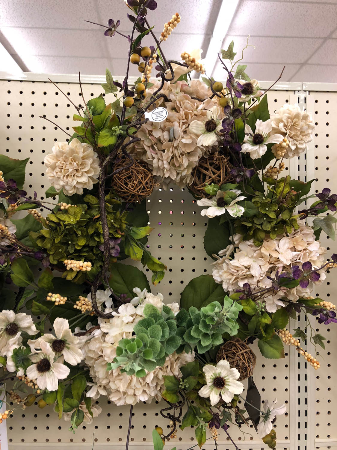 ready made wreath at hobby lobby store for sale expensive
