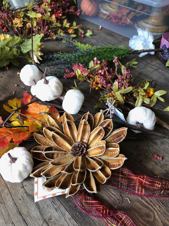supplies used to make my DIY fabulous fall wreath