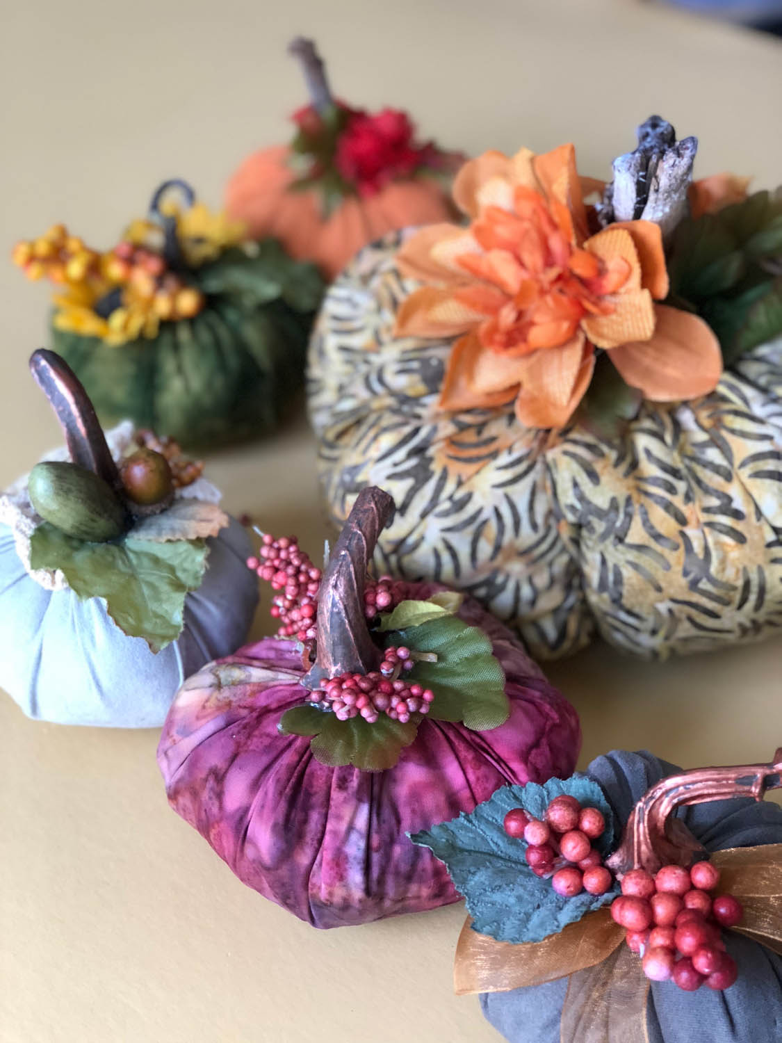 finished fast and fun fall fabric pumpkins