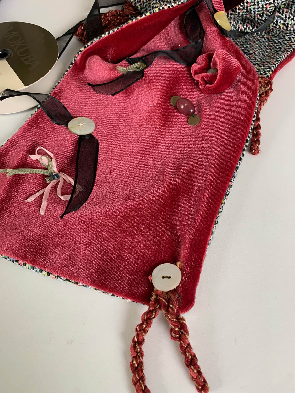 Make a Velvet Embellished Dressy Winter Scarf ribbons and ribbon flowers sewn to red velvet