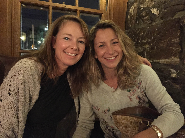two women at a scottish pub