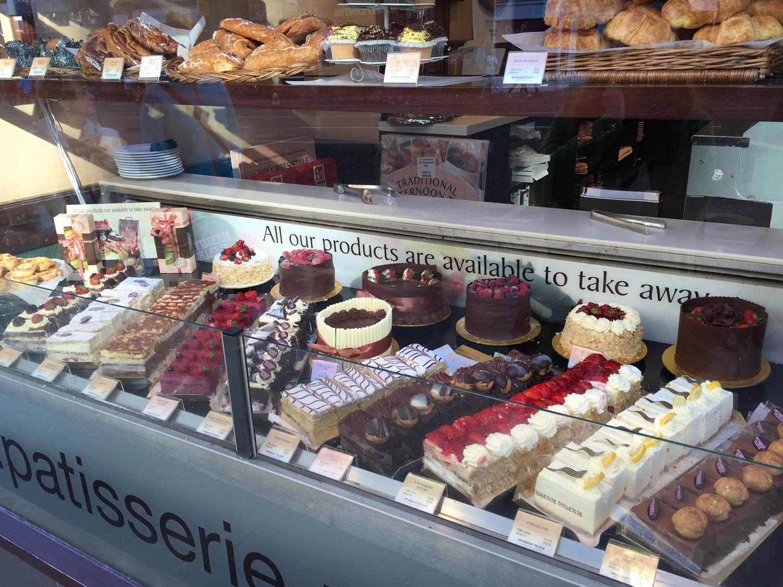 pasteries in a bakery in Edinburgh