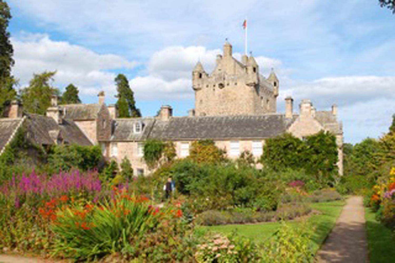 Castle along road to Isle of Skye Scotland