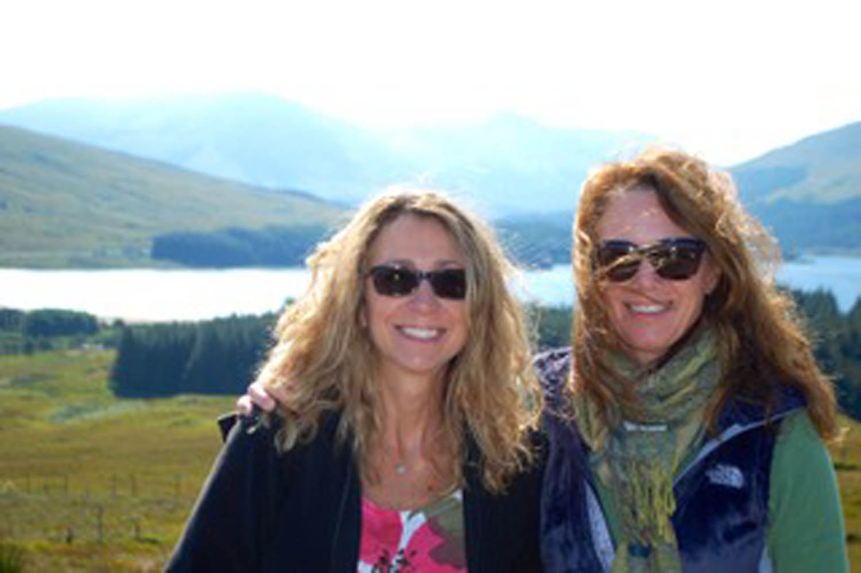 two women best friends near Dundee Scotland