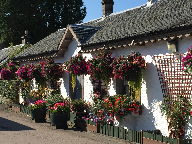 village near Scottish Highlands and Stirling Scotland