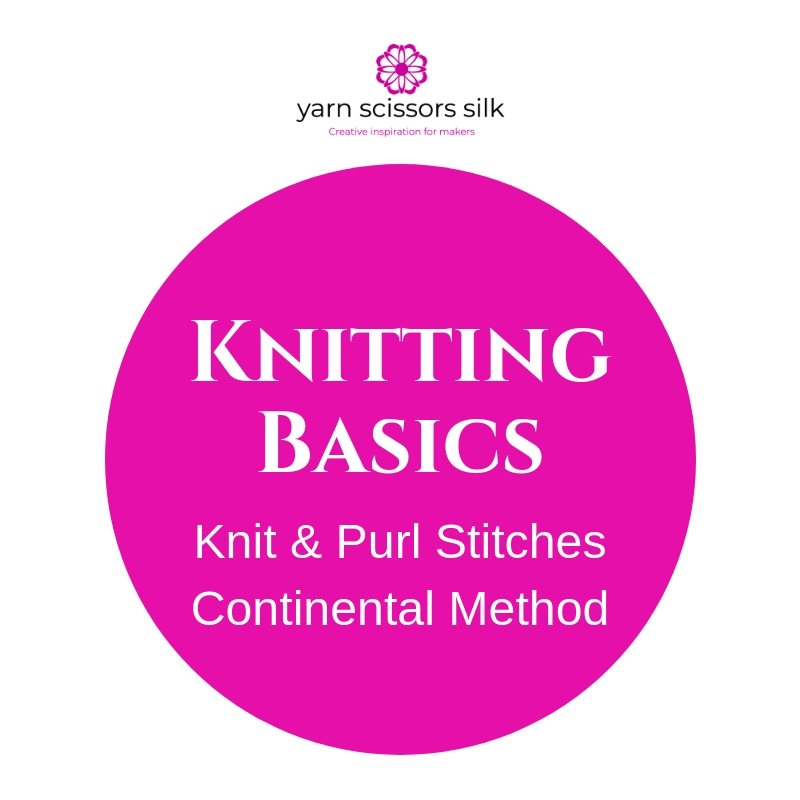 Knitting Basics how to knit & purl stitches using the continental method