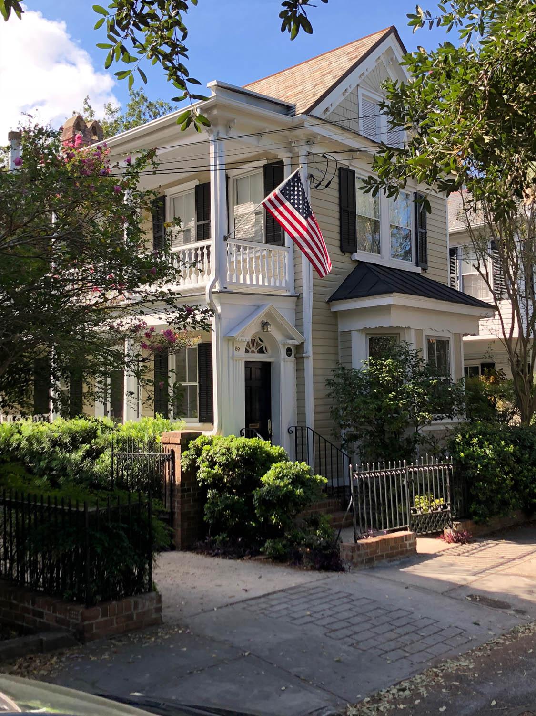 side porch door in Charleston