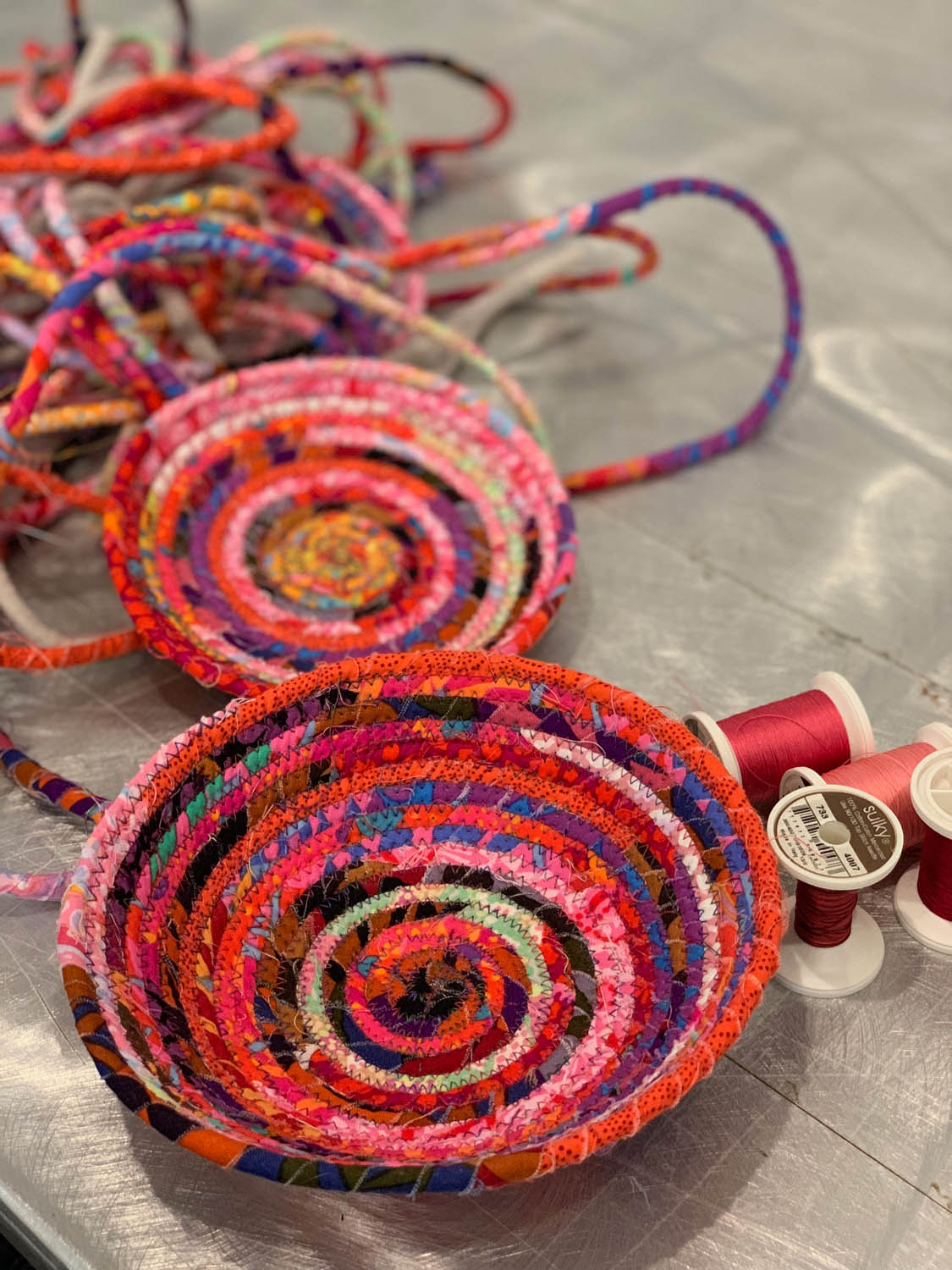 woven rope bowls class at craftcation in Ventura California with Lucy Scinta