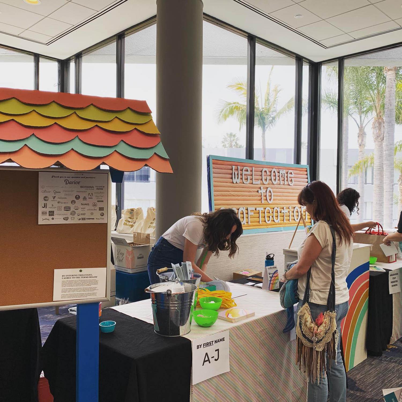 Craftcation 2019 registration booth in Ventura Beach California