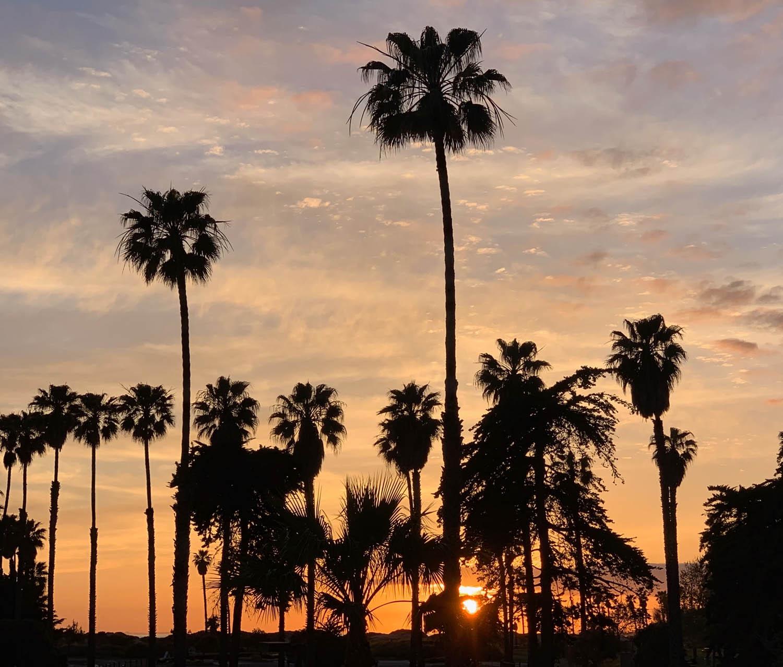 Ventura Beach Marriott sunset in California at Craftcation