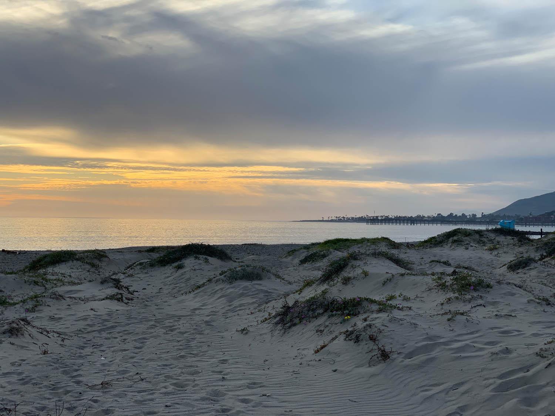 Sunset at Ventura Beach, California during Craftcation 2019
