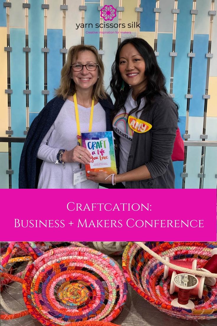 Ashley of Yarn Scissors Silk gives an inside peek of Craftcation 2019 in Ventura, California