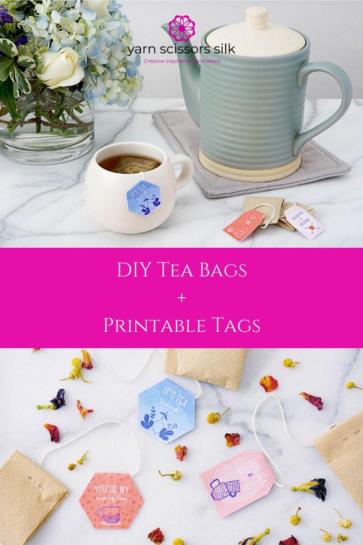 DIY Tea Bags + Printable Tags…includes ideas for tea bag fillings!