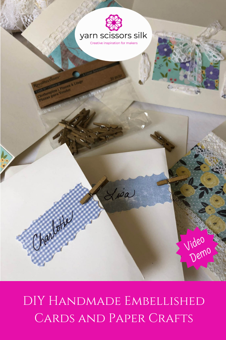 DIY Handmade Embellished Cards & Paper Crafts how-to and Yarn Scissors Silk.