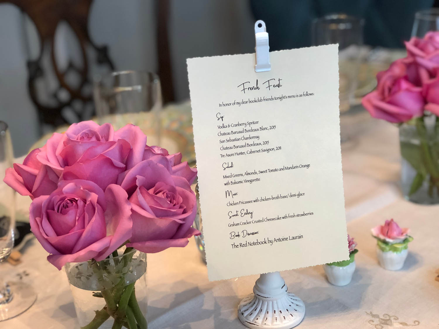table setting with menu card