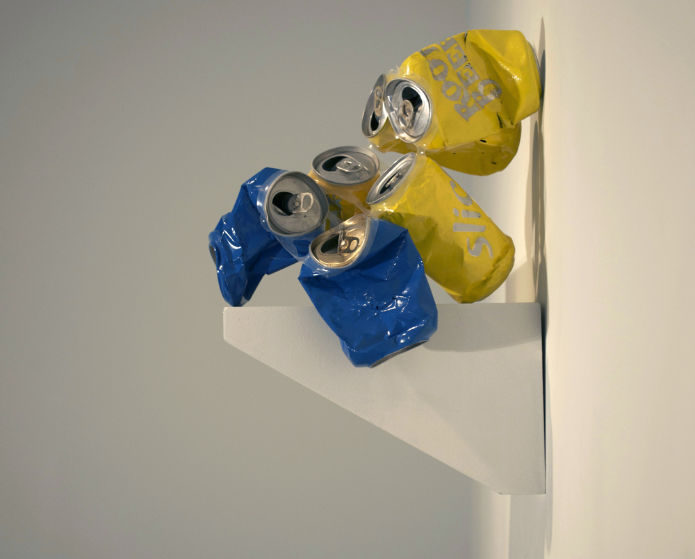 Two Blue Four Yellow Cans