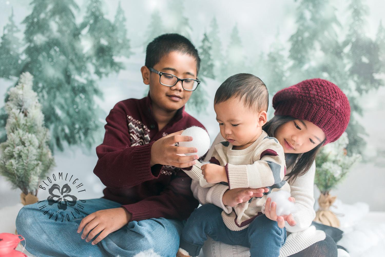 Holiday Mini Photos with 3 kids inToronto