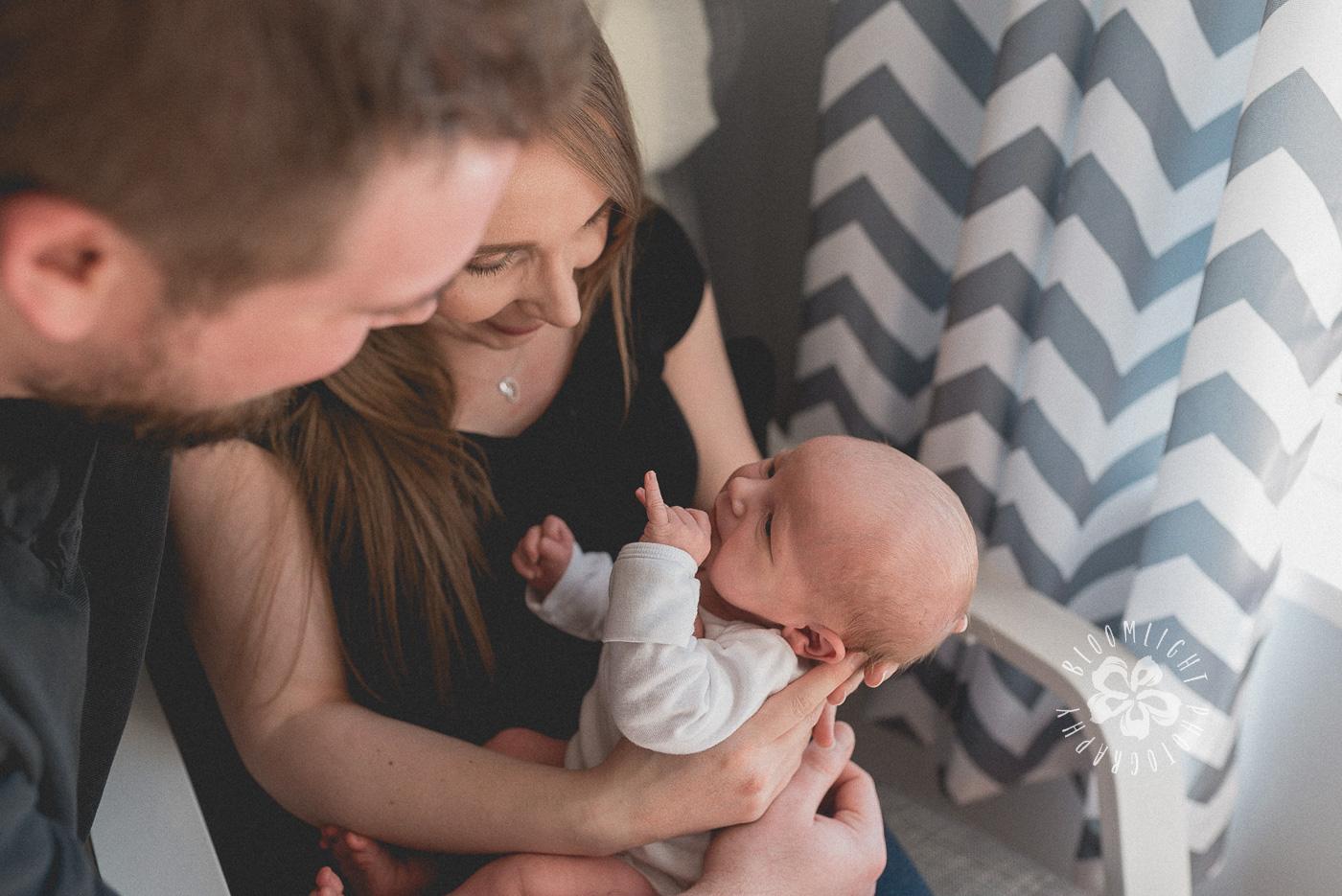 North York sweet In-home newborn photo