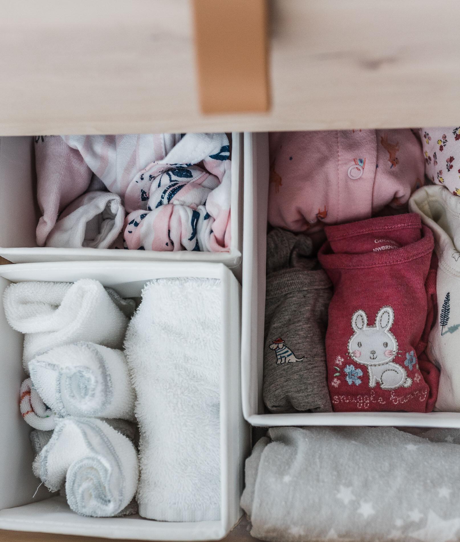 organizer boxes for newborn dresser