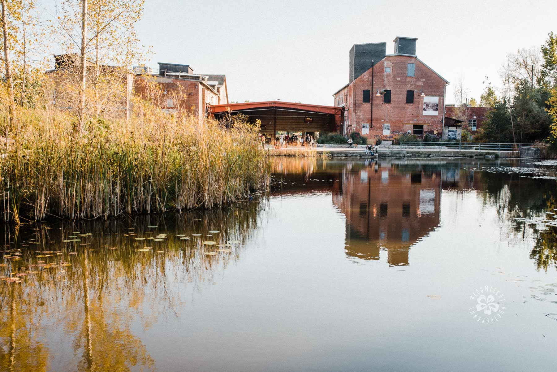 A photo of Evergreen Brick Works in Fall, Toronto.