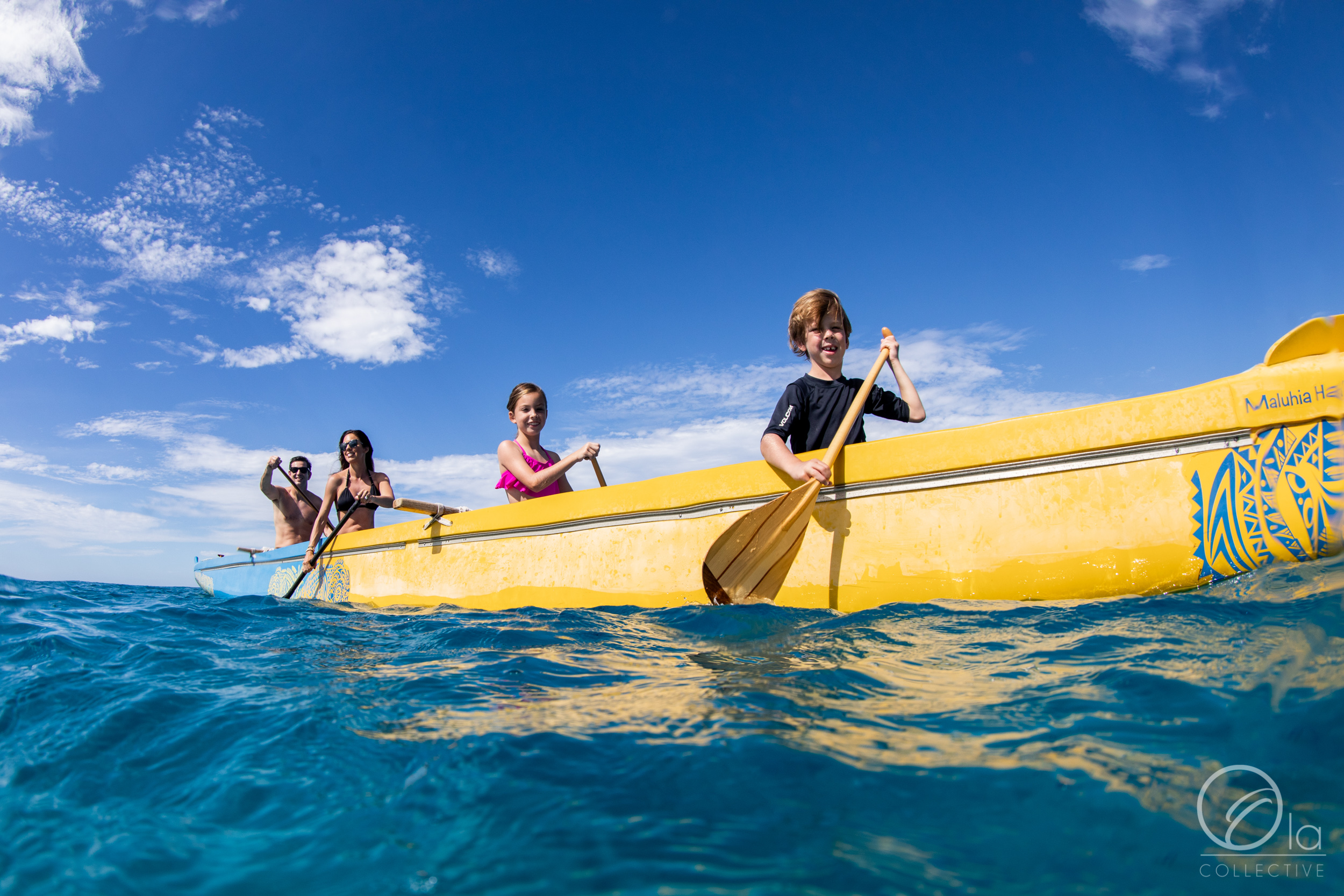 Their journey started with a paddle out to sea.