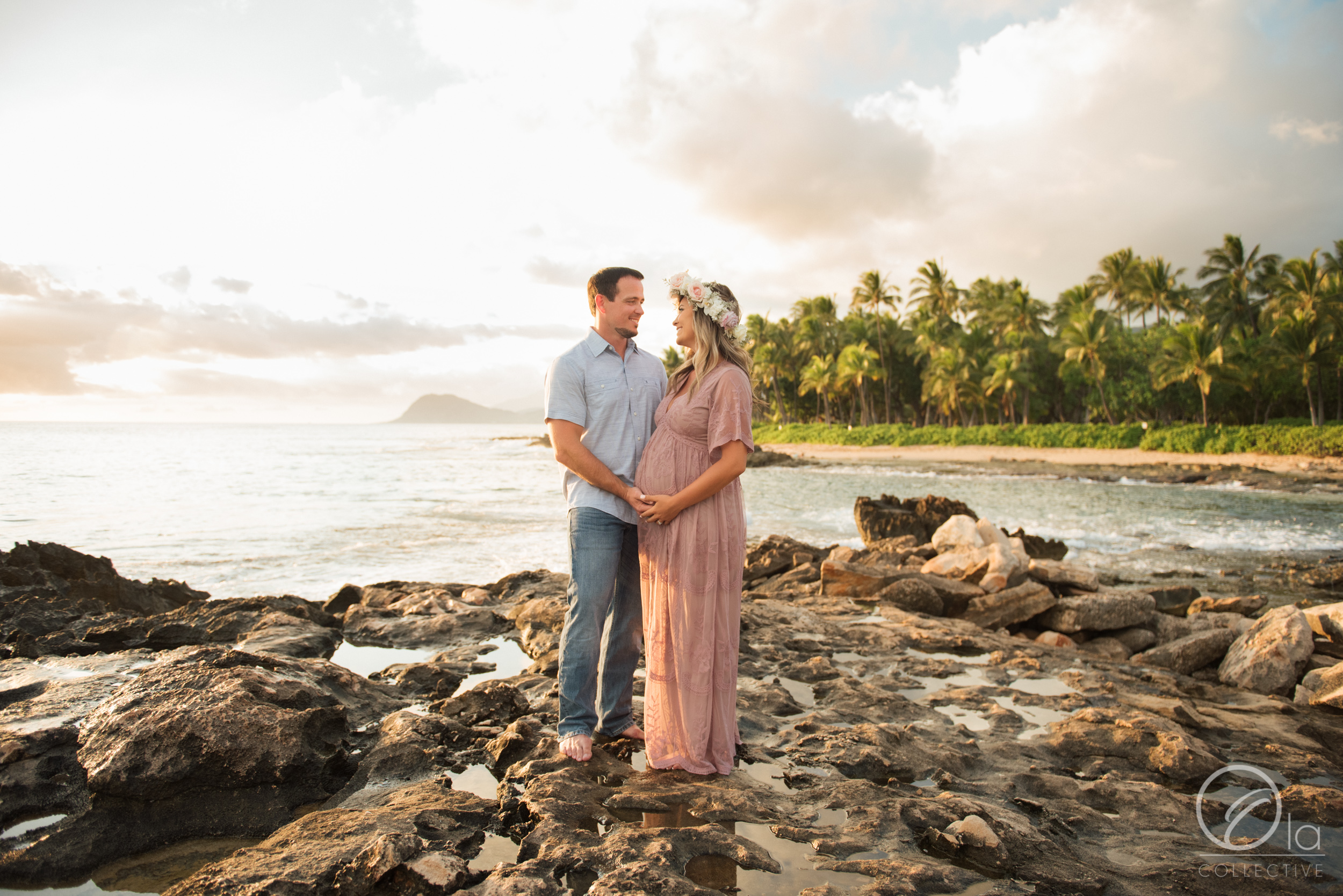 Mr. and Mrs. F's outfits perfectly complimented the tones of the sunset that evening!