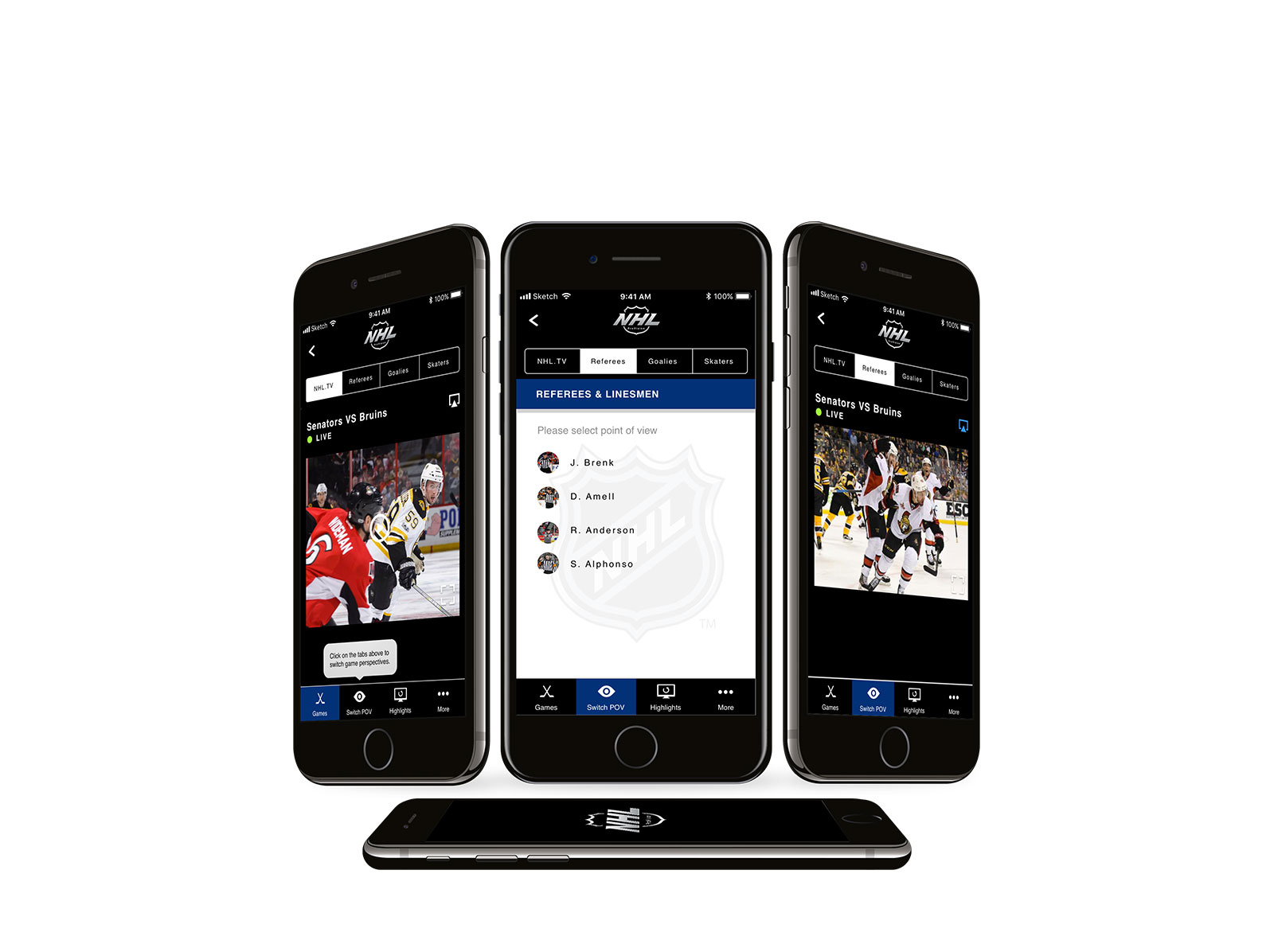 Nhl Pro Vision Mobile Design May I Lee