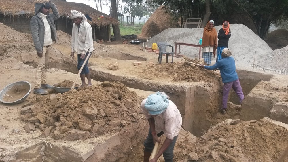 Padariya School, Nepal - construction
