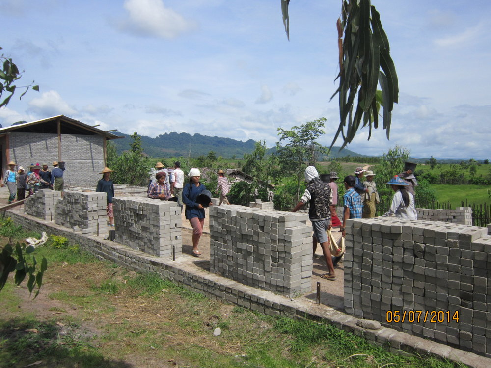 Michael Matthews Learning Centre, Burma - construction