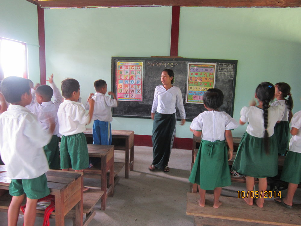 Michael Matthews Learning Centre, Burma - after