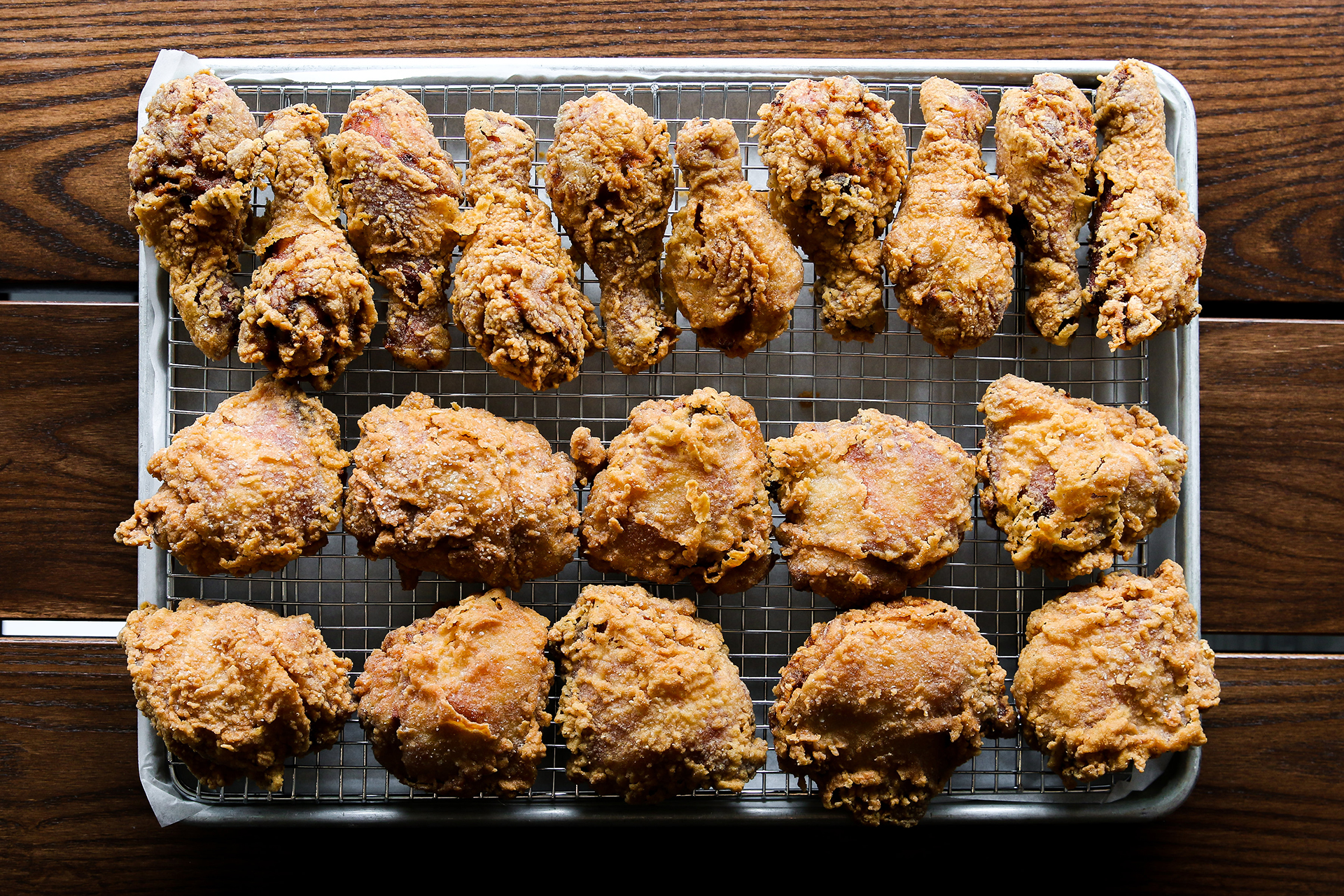 Juke's delicious trademark gluten-free, non-GMO-grain-fed and free-range fried chicken